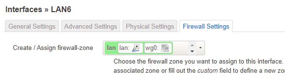 LAN6 Firewall Settings