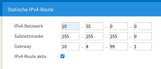 Statische IPv4-Route