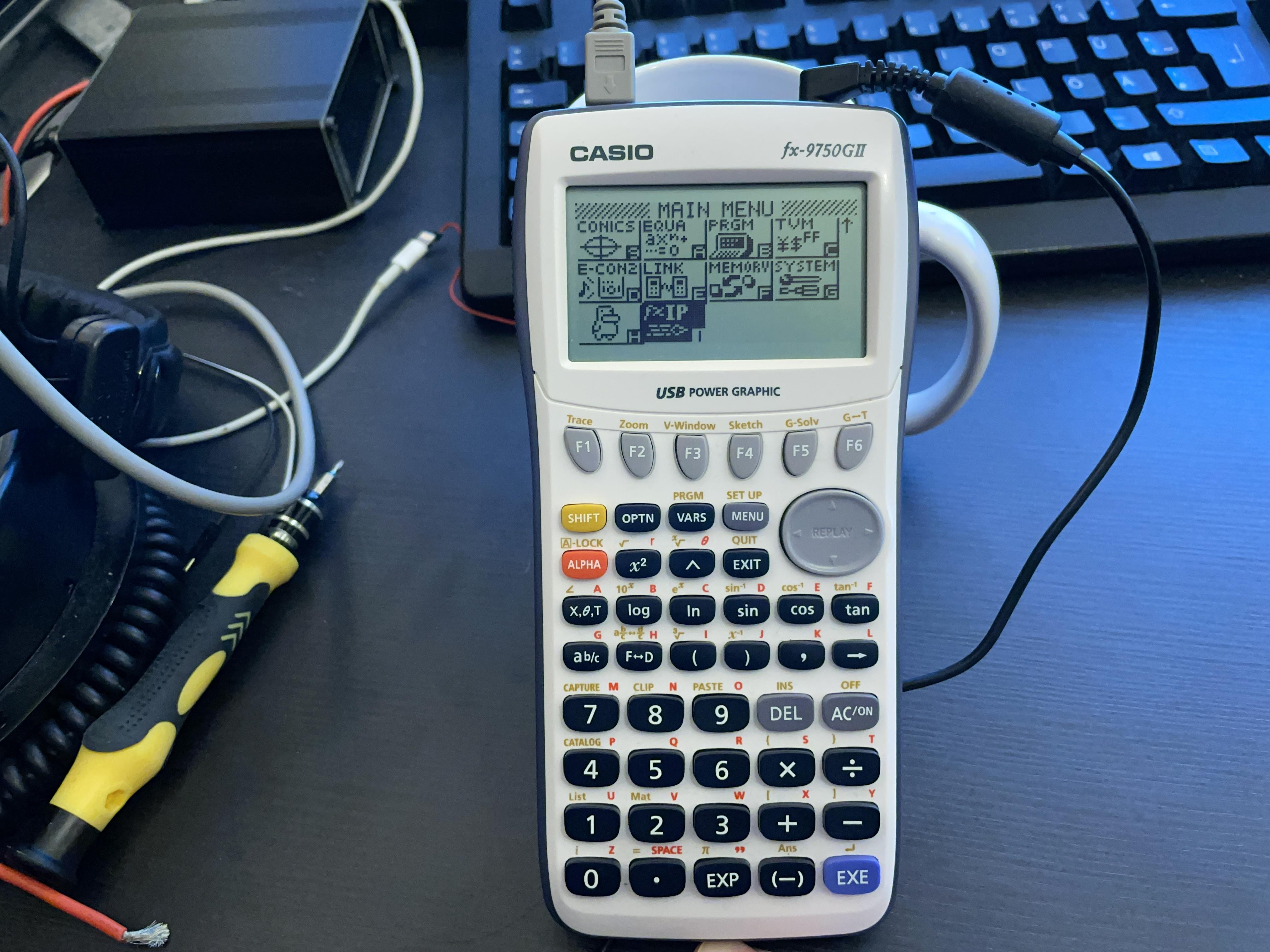 Casio fx-9750GII Webserver