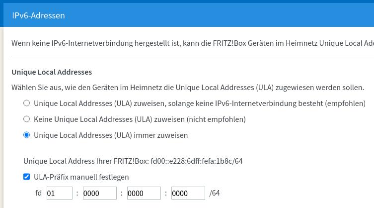 IPv6-Einstellungen